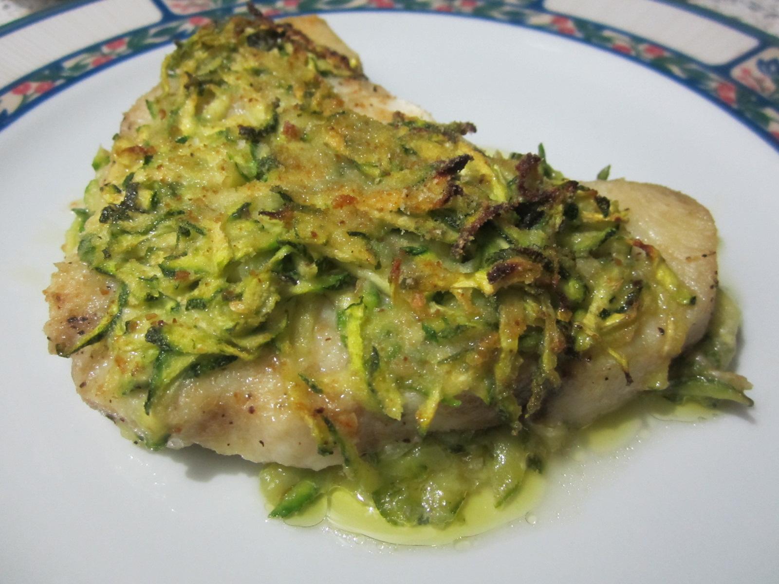 Tranci di pesce con trito di zucchine le meraviglie di cicettale meraviglie di cicetta - Filetto di orata al forno su letto di patate ...