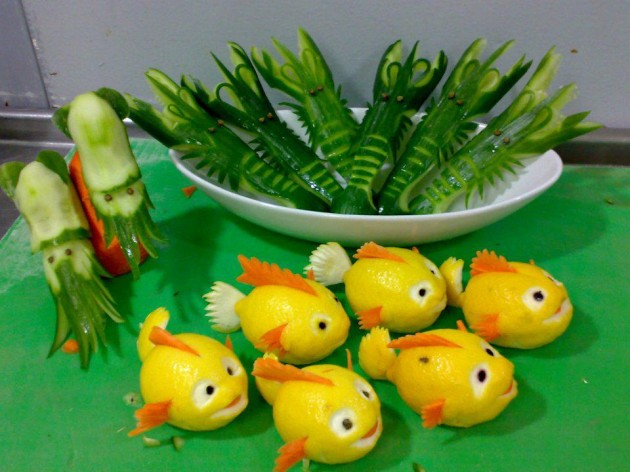 Фигурки из овощей своими руками