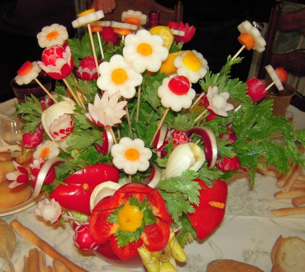 come decorare piatti di verdure e non solo le