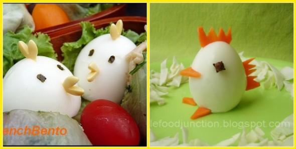 Uova sode decorate come pulcini e1269098591994 le - Uova decorate per bambini ...